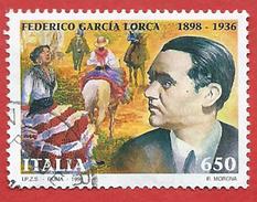 Italia 1998; Federico Garcia Lorca, Centenario Della Nascita. Francobollo Usato Da Lire 650. - 1991-00: Usati