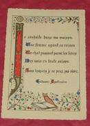 Je Souhaite Dans Ma Maison :: Guillaume Apollinaire  ------------ 404 - Schriftsteller