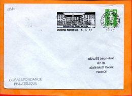 """ARDENNES, Charleville-Mézières, Flamme SCOTEM N°12881, """"ancienne Ecole Royale Du Génie"""" - Storia Postale"""