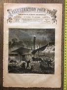 ILLUSTRATION POUR TOUS N°64 1879 INCENDIE DANS UNE SUCRERIE A CUBA - Magazines Et Périodiques
