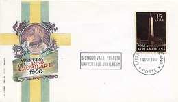 VATICAN 1966 - 15 Lire Auf Jubilaeum-Schmuckbrief - Briefe U. Dokumente