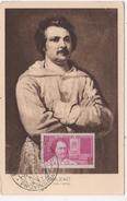 CARTE MAXIMUM  HONORE DE BALZAC - Ecrivains