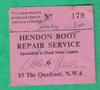 Ticket Couture - London 15 The Quadrant, N.W.4 - Hendon Boot Repair Service - Specialists In Hand Sewn Repairs - Royaume-Uni