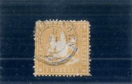 Allemagne - Wurttemberg - N° 17 Jaune - TB  Côte 65.00€ - Wuerttemberg