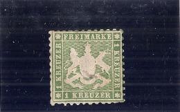 Allemagne - Wurttemberg - N° 25 Vert - TB  Côte 55.00€ Charnière - Wuerttemberg