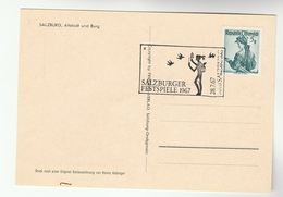 1967 SALZBURG FESTIVAL EVENT Cover Card Stamps Postcard Bird Music Theatre Austria - Music