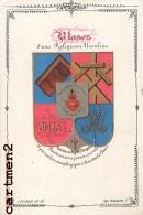 BELLE IMAGE PIEUSE : BLASON D'UNE RELIGIEUSE URSULINE E. BOUASSE SANTINI CANIVET - Devotion Images