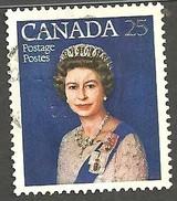 Sc. #704 Queen Elizabeth, Silver Jubilee HV Single Used 1977 K874 - 1952-.... Règne D'Elizabeth II