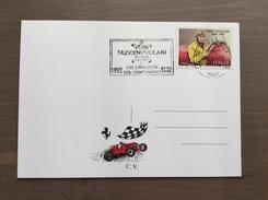 Cartoncino Retro Cartolina Con Targhetta Celebrazioni Del Centenario Tazio Nuvolari Mantova 5-6-1992 - Grand Prix / F1
