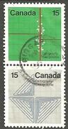 Sc. #583 & 85 Earth Sciences Se Tenent Pair HV Single Used 1972 K876 - 1952-.... Règne D'Elizabeth II