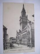 CPA  59 DUNKERQUE L'Hotel De Ville Et La Rue De L'Eglise 1917 T.B.E. - Douai