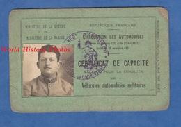 Permis De Conduire Militaire De 1923 - COMMERCY - Soldat Pierre LEROUX Du 361e Régiment D'Artillerie Lourde Portée - Historical Documents