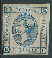 1863 REGNO EFFIGIE 15 CENT II TIPO SENZA GOMMA - P48-5 - 1861-78 Victor Emmanuel II.