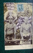 CPA : SAMOA : PAGO PAGO WARRIORS, En 1907 - Samoa