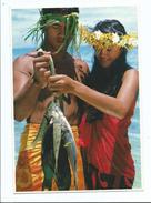 Polynésie - Papeete - Jeune Couple Polynésien - écrite 1983 - Post Card Teva Sylvain - Polynésie Française