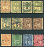 Russia MOSCOW 1881 Police Registration Tax Revenue Stamps Selection Colour Shades Fiscal Gebührenmarken Russland Russie - Revenue Stamps
