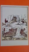 Wolf As Granny - LITTLE RED RIDING HOOD By Gorokhovsky - Old USSR Postcard - 1970s Rare - Vertellingen, Fabels & Legenden
