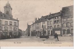 57 - SAINT AVOLD - PLACE DU MARCHE ET RUE DU CLOITRE - Saint-Avold