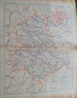 ATLAS FRANCE ILLUSTREE1909:CARTE DEPARTEMENT:  HAUTE-VIENNE/PLAN DE LA VILLE DE: LIMOGES - Geographical Maps