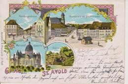 57 - SAINT AVOLD - LITHOGRAPHIE - 4 VUES - Saint-Avold