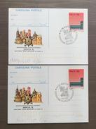 Coppia Di Cartoline Postali Con Annulli Mantua '92 Mantova 6 E 7-6-1992 - Grand Prix / F1