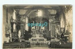 CARTE PHOTO à LOCALISER - Intérieur D' église -  Le Jour De La Fête De Sainte Therese - Cartes Postales
