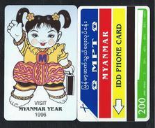 MYANMAR 6 BIRMANIE 200u MYANMAR YEAR 1996 Vert Green 15000ex MINT URMET Neuve