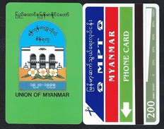 MYANMAR 2 BIRMANIE 200u HOUSE 5000ex - MINT URMET Neuve
