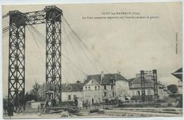 Pont-Sainte-Maxence-Le Pont Suspendu Construit Par L'armée Pendant La Guerre-(CPA) - Pont Sainte Maxence