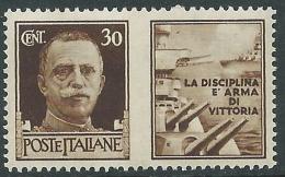 1942 REGNO PROPAGANDA DI GUERRA 30 CENT MNH ** - P49-2 - 1900-44 Victor Emmanuel III.