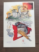 Cartolina Di Nani Tedeschi Convegno Nazionale AVIS Aziendali Annullo Maranello 10-10-1992 - Manifestazioni