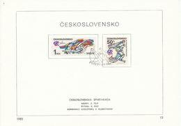 Czechoslovakia / First Day Sheet (1985/13) Praha: Czechoslovak Sports Games (Spartakiada) 1985; Painter: Z. Filip - Tennis