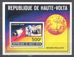 Haute-Volta Bloc-feuillet YT N°5E Mission Apollo XVII Neuf ** - Haute-Volta (1958-1984)