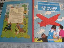 BD HERGE Les Aventures De Jo Zette Et Jocko Le Testament De Mr Pump 1982 - Hergé