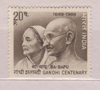 India Mi 481 Birth Centenary Of Mahatma Gandhi - Gandhi And Kasturba - 1969 * * - India