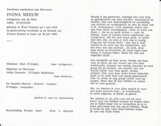 Ivona Meeuw (1918-1992) - Devotieprenten