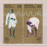 India Mi 841-842 50th Anniversary Of The Dandi March - Mahatma Gandhi 1980 * * - India