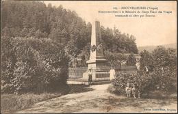 CPA Brouvelieures Vosges Monument Mémoire Corps Franc Des Vosges Guerre De 1870. Editeur : Guerre-Briot, Bruyères N°107 - Brouvelieures