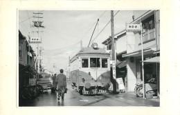 PHOTOGRAPHIE ANCIENNE : SHIZUOKA TRAMWAY K. YOSHITANI JAPON JAPAN TRAIN TRAM LOCOMOTIVE STATION ZUG BAHNHOF - Photographs