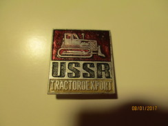 USSR RUSSIA TRACTOROEXPORT , TRACTOR , PIN  BADGE , 0 - Transportation
