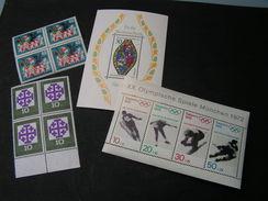 BRD  4 Blöcke Lot  ** MNH - Briefmarken