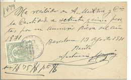 TARJETA COMERCIAL 1931 - Steuermarken/Dienstpost