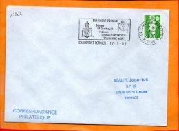 """ARDENNES, Chaumont-Porcien, Flamme SCOTEM N°12202, """"site De St Berthauld Maison Typique Du Porcien"""" - Storia Postale"""