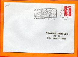 """ARDENNES, Les Hautes Rivières, Flamme SCOTEM N°11523, """"la Métallurgie, La Semoy Pittoresque"""" - Marcophilie (Lettres)"""