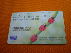 Ladybug Coccinelle Insect Japan Phonecard - Coccinelle