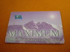 Everest/Mountain/Montagne/Alpinisme Israel Prepaid Phonecard - Mountains
