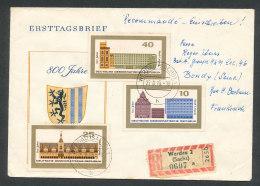 .825 à 827 8è Centenaire De Leipzig Sur Lettre - Briefe U. Dokumente