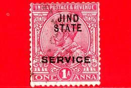 India - JHIND - JIND - Usato - 1914 - Servizio - Re Georg V - 1 - Jhind