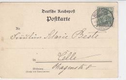 Karte Aus Rostock 4.1.01 Nach Celle - Deutschland