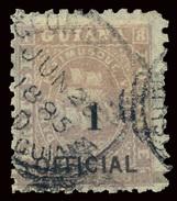 BRITISH GUIANA 1881 1 C. On 12 C. (SG 153) Used - British Guiana (...-1966)
